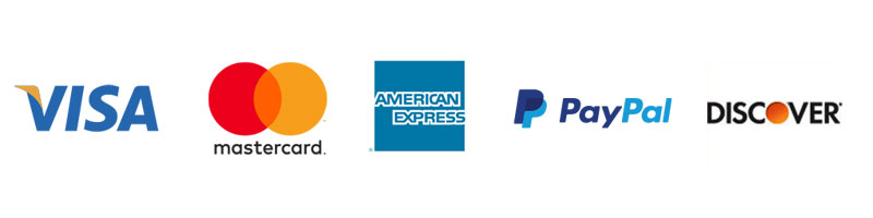 Logos for credit cards and PayPal