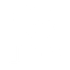 Icon with hearts in a hand