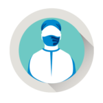 Icon of a health professional wearing a mask