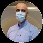 Portrait of Doctor Voros wearing a mask
