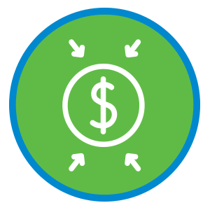 Icon with dollar symboling;e for Financial Reports